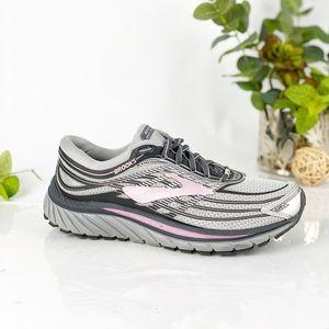Brooks Glycerin 15 Running Shoe Silver Pink Gray